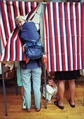 picture of person voting