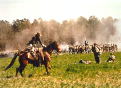 Bentonville Battlefield during a Reenactment