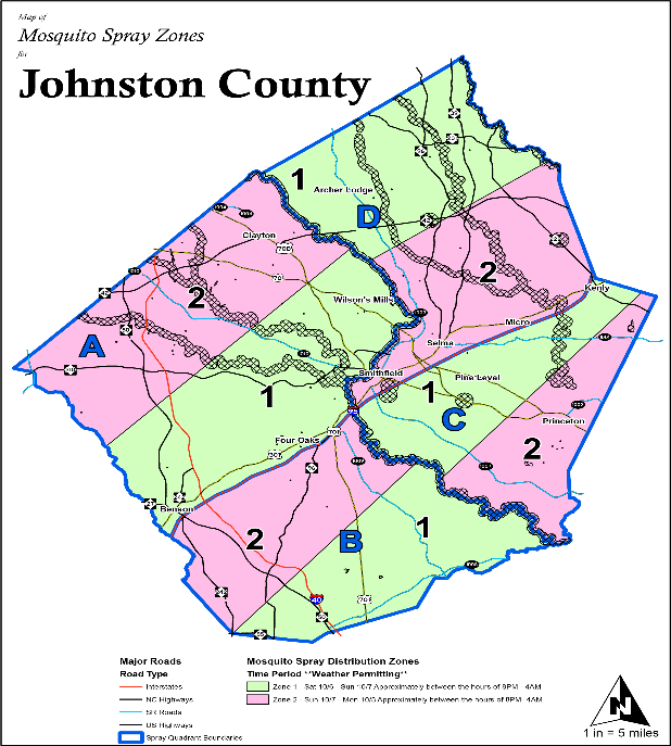 Map of mosquito spraying zone