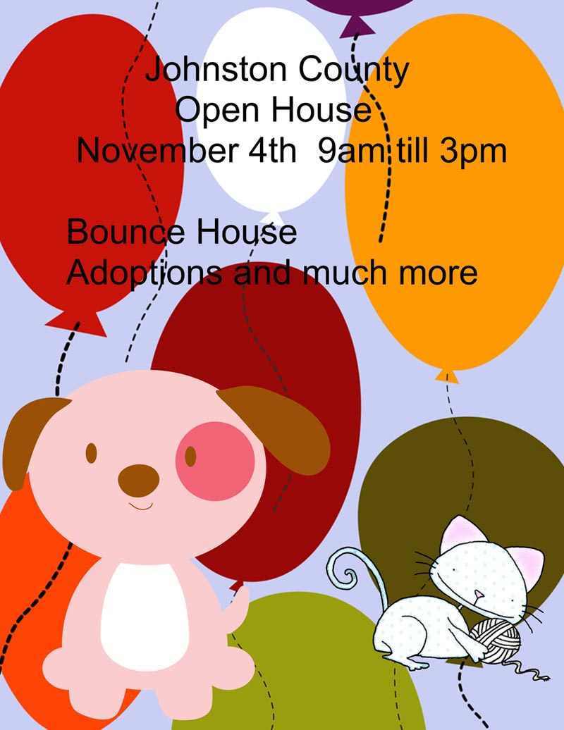 Flyer for 2017 Animal Shelter Open House