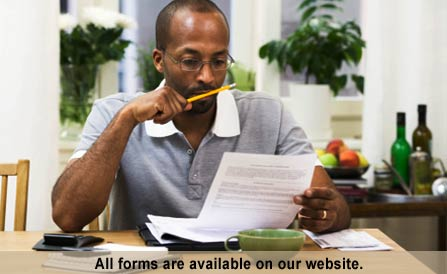 All forms are available for download by visiting the Tax Forms page