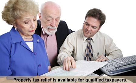 Property Tax Relief is available for qualified taxpayers.