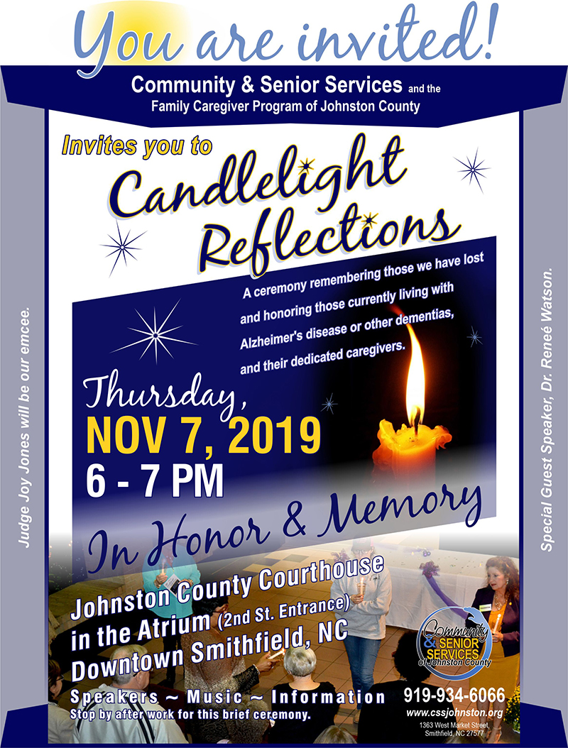Candlelight Reflections flyer