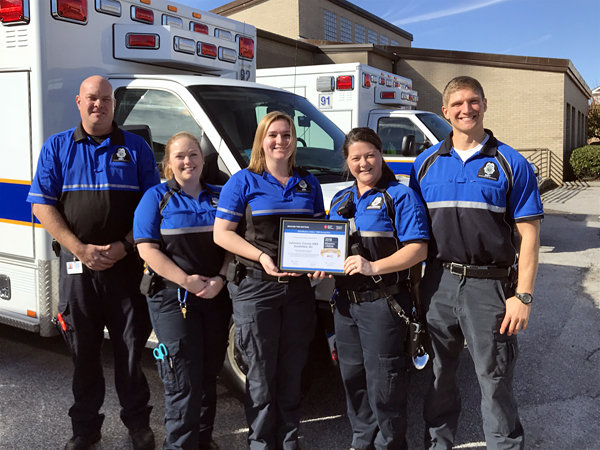 EMS Division Receives Highest National Award for Cardiac Care for the Second Consecutive Year