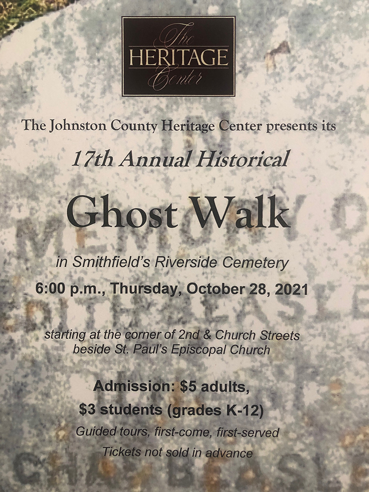 Flyer for 2021 Ghost Walk